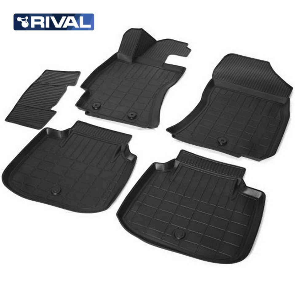 Фото - For Subaru Outback V 2015-2019 3D floor mats into saloon 5 pcs/set Rival 15403001 коврик багажника rival для chevrolet cruze i седан 2009 2015 полиуретан 11003003