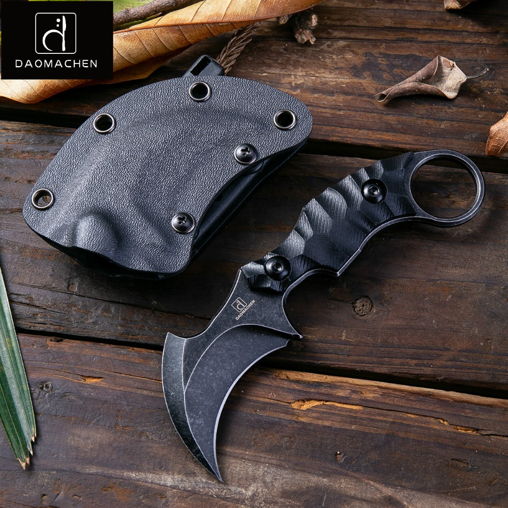 2018 DAOMACHEN Outdoors Tactical Karambit Knife Camping Survival Hunting Claw Knives Multi Purpose Tools D2 Blade Free Shipping daomachen outdoor tactical knife survival camping tools collection hunting knives copper handle fix blade knife free shipping