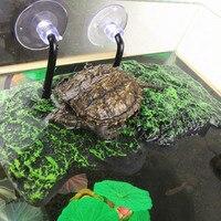 Рептилии автоматического плавучий остров на платформе черепаха греться полиуретановая пена терраса Террариум греющая платформа горка-ост...