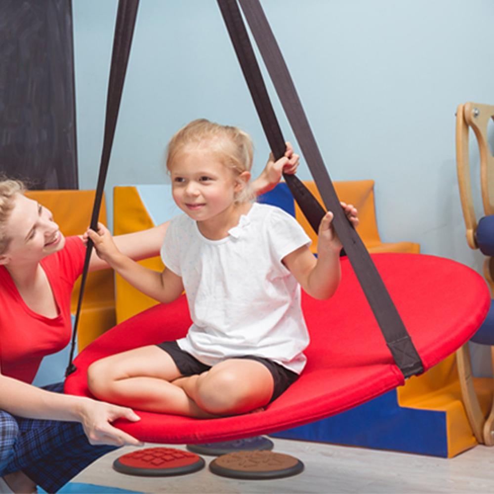 Hamac suspendu rond balançoire intérieure et extérieure-Svava arbre balançoire pour bébé, enfant en bas âge, enfant et adulte balançoire ronde hamac