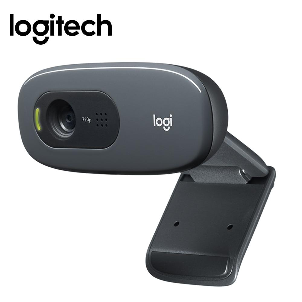 Original Logitech C270 HD computer webcam Built-in Micphone USB2.0 720 pixels Mini Computer Camera for PC Laptop Video Callling logitech c270 hd vid 720p webcam with mic micphone video calling