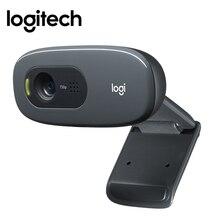 Оригинальный logitech C270 HD компьютер веб-камера Встроенная Micphone USB2.0 720 пикселей мини-компьютер Камера для портативных ПК видео Callling