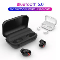 TWS Wireless Bluetooth Earphone 2200 mah battery Earphones For Xiaomi Huawei Stereo Earbud Sport Headset With Mic Charging Box