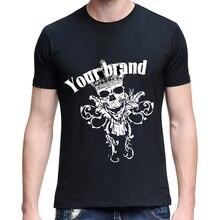 men Summer Short Sleeve T-Shirt Fashion Crown Skull Head Print Couple Top Tee