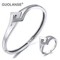 Wedding Engagement Bangle Ring Sets Gold Silver Dubai African Nigerian Bracelets Bangles Rings Elegant Women Prom