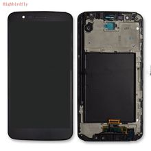 For Lg Stylus 3 LS777 M400 M400DF M400N M400F M400Y Lcd Display With Touch Glass Digitizer Frame Assembly Pantalla Black color