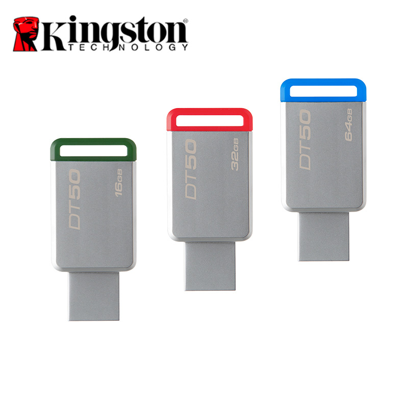 Kingston USB Flash Drives Metal Material DataTraveler 50 USB Flash Disk USB 3.1 DT50-16G/32G/64G