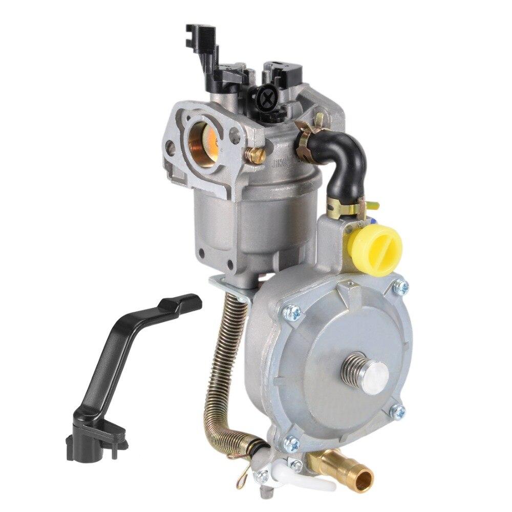 UXCELL Generatore Dual Fuel Carburatore Carb GPL NG Kit di Conversione 2KW GX160 GX200 168F 170F Manuale Metallo Generatori Accessorie