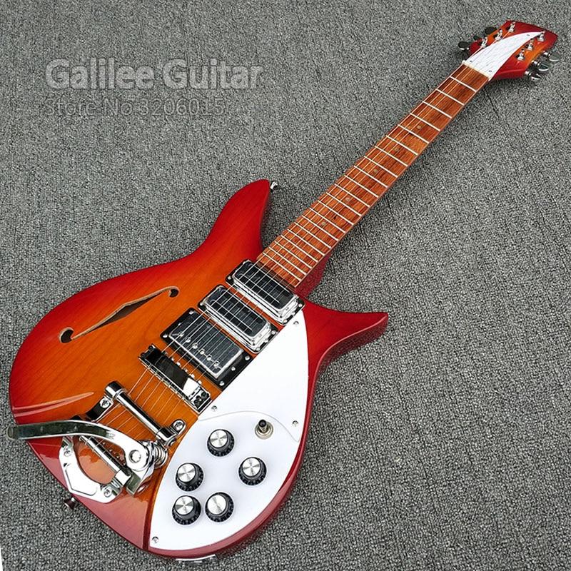 Galilée 325 électrique guitare, assurance De la Qualité, d'érable guitare tête et le corps en aulne avec S trou, touche est la lumière peinture!!!