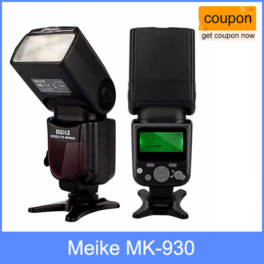 MEIKE New Product MK 930 II LCD GN58 Flash Speedlite for Canon Nikon Pentax Olympus DSLR