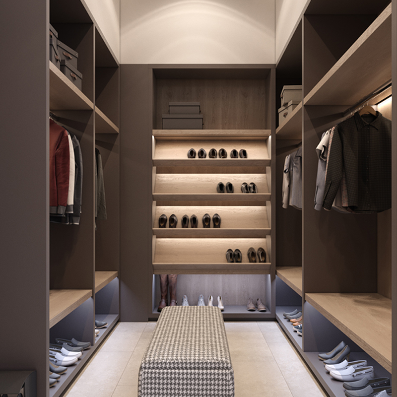American style closet bedroom walk in wardrobe with sliding door ...