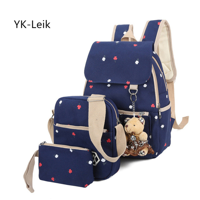 26a66a9c2c01 YK-Leik Brand Backpack Women Printing Backpacks Teen school bags For gril  Canvas Large Capacity School Bag mochila feminina