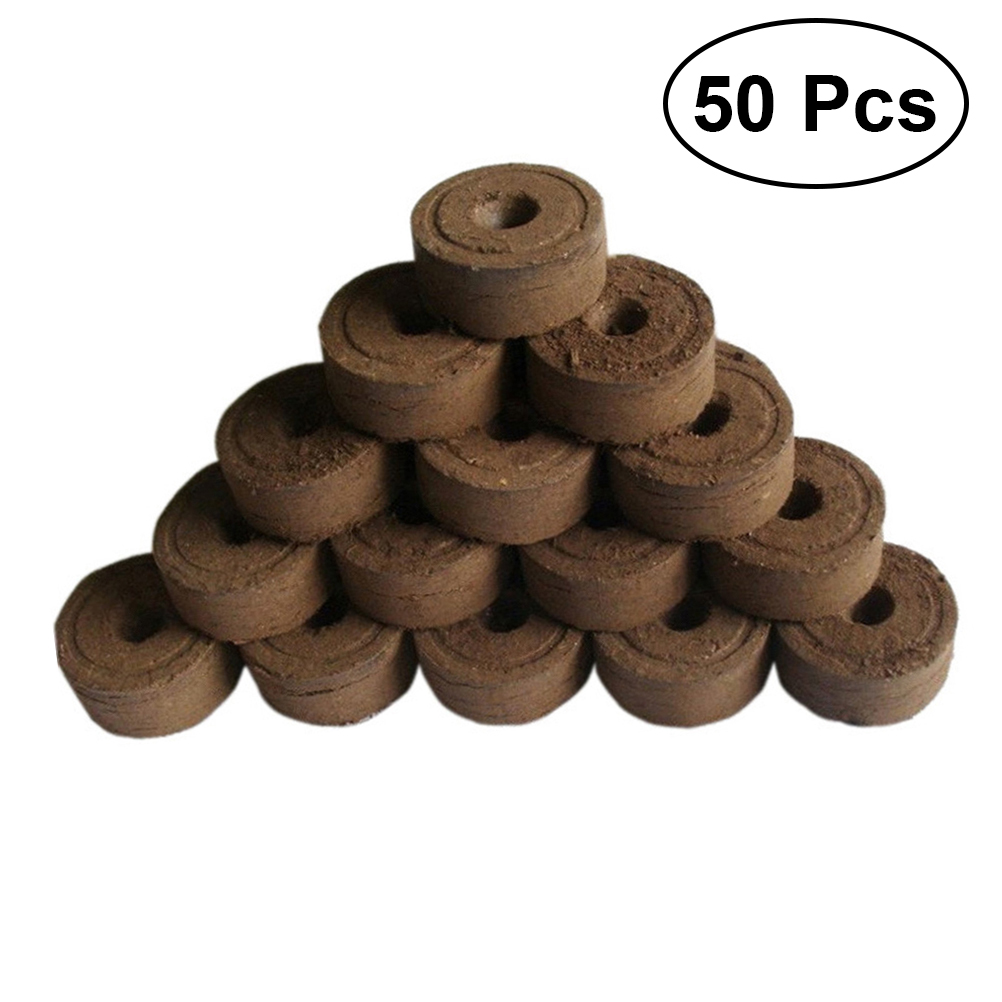 50pcs 4.5cm Peat Pellets Seedling Planting Peat Pieces Compressed Peat Soil Professional Gardening Supplies