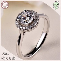 Good Quality Delicate and Cute CZ Paving S925 Sterling Silver Flower Stone Ring