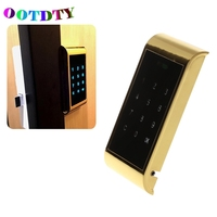OOTDTY Touch Keypad Password Key Access Cabinet Door Lock Drawer Combination Locks Digital Electronic Security Coded