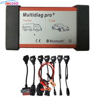 Quality A Multidiag Pro+ With Bluetooth For Cars Trucks OBD2 Scanner TCS cdp Pro Diagnostic Tool + Car Cables Free Ship