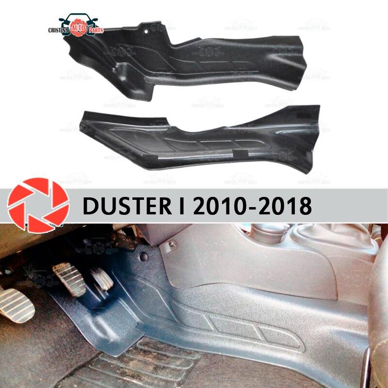 Renault duster 2010-2018 용 내부 터널의 보호 플레이트 커버 트림 액세서리 보호 카펫 장식 자동차 스타일링
