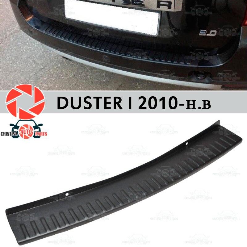 Dla renault duster I 2010-2018 osłona płyta ochronna na tylnym zderzaku dekoracja samochodu scuff panel akcesoria odlewnictwo