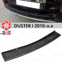 For Renault Duster I 2010-2018 guard protection plate on rear bumper sill car styling decoration scuff panel accessories molding