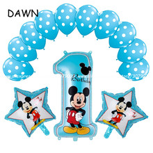 13pcs/lot Minnie Mickey Mouse theme party decoration Combination suit balloons helium late