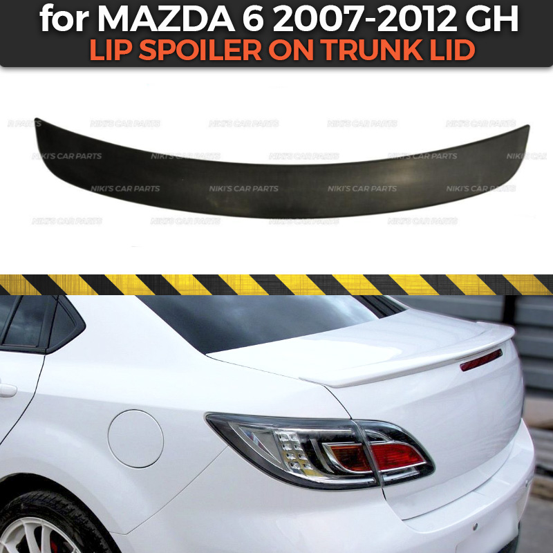 Lip spoiler case for Mazda 6 GH 2007 2012 ABS plastic sport style car styling car
