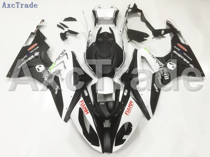 Motorcycle Fairings Kits For BMW S1000RR S1000 2015 2016 15 16 ABS Plastic Injection Fairing Bodywork Kit White Black A142 motorcycle blue bodywork kit fairing for bmw s1000rr s 1000 rr s 1000rr 2015 15 injection mold fairings cowl set uv painted