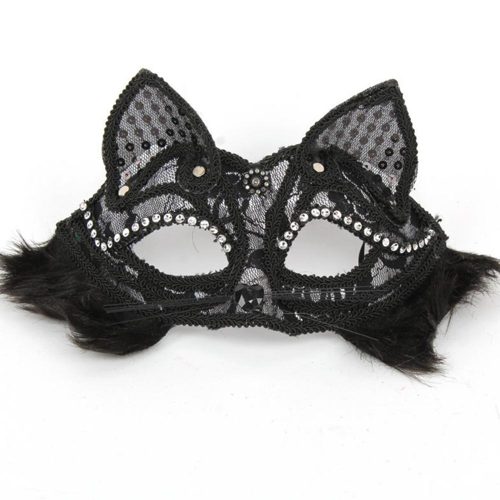 Party Face Lace Feather Sexy Mask Cat Face Masks Black White Valentine's Day Show Ball Halloween Xmas Party Lady Fancy Dress