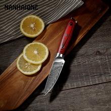 NANHAIONE 3,5 дюймов Ножи Дамаска для очистки овощей стальной кухонный нож японский нож шеф-повара из нержавеющей стали Экологичный нож s CL123