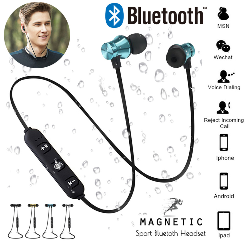 Sports Bluetooth Headphones Stereo Music Earphones Magnetic Earpiece Handsfree fone de ouvido Wireless Headset for Xiaomi iPhone edifier w800bt bluetooth headset headphones stereo wireless earphone for iphone android phone computer fone de ouvido