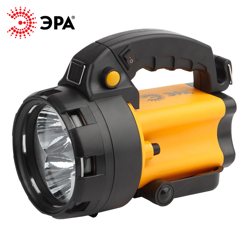 PA-604 ERA flashlight projector rechargeable Alpha 3x1 W LED SMD lithium 3Ач, signal. st... with charger 220 V + 12 V цена