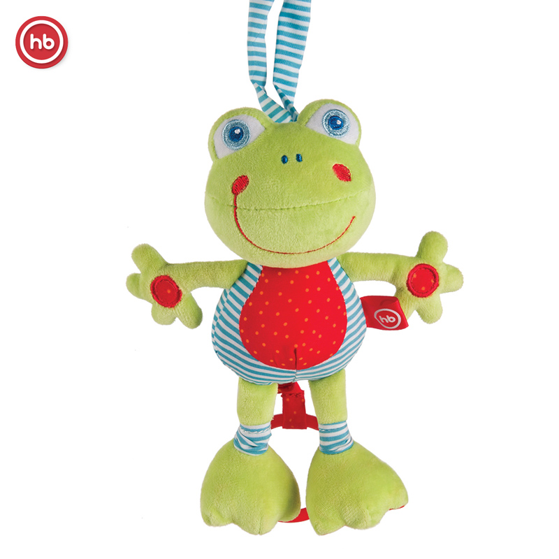 stretching frog toy music pendant Happy Baby FROLIC FROGLING electronic walking pet robot dog puppy baby friend toy gift with music light