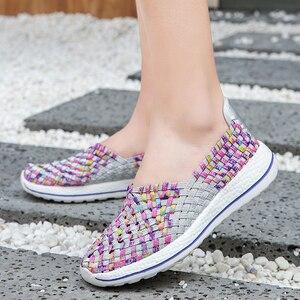 Image 1 - Vrouwen Schoenen Flats Zomer Ademende Sneakers Mode Vrouwen Tenis Casual Loafers Comfortabele Lopen Schoenen Buiten Sneakers Zapatos