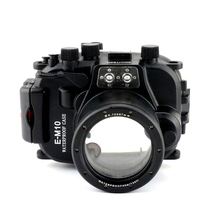 Meikon 40M/130ft Underwater Camera Housing Diving Case For Olympus E-M10 EM10 14-42mm,Waterproof Bags Case  For Olympus Camera