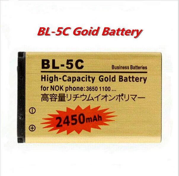 High capacity 2450mAh Li ion Replacement Battery For Nokia BL 5C 1000 1010 1108 1110 1112