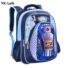 YK Leik Hot Sale Orthopedics Schoolbags 3d Car Children School Bags High Quality Cartoon Backpack Large