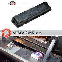 Für Lada Vesta SD/SW 2015 organizer tasche in handschuh box kunststoff ABS geprägte funktion tasche auto styling zubehör dekor-in Chrom-Styling aus Kraftfahrzeuge und Motorräder bei