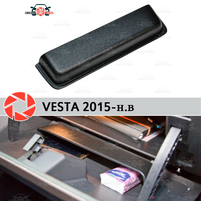 For Lada Vesta SD / SW 2015- organizer pocket in glove box plastic ABS embossed function pocket car styling accessories decor 64 58 35mm clear cover plastic sealed junction box abs plastic electrical enclosure ip66 waterproof plastic enclosure pcb cases