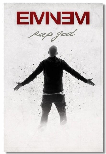 Custom Canvas Wall Murals Eminem Poster Eminem Rap God Stickers