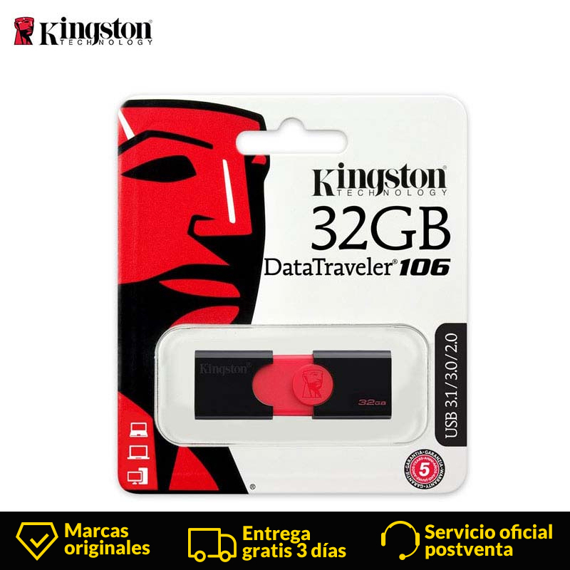 Kingston DT106 Usb 3.0 Flash Drive Pen Drive 32gb Pendrive High Speed Usb Flash Drive Storage File Usb Stick U Disk For Computer