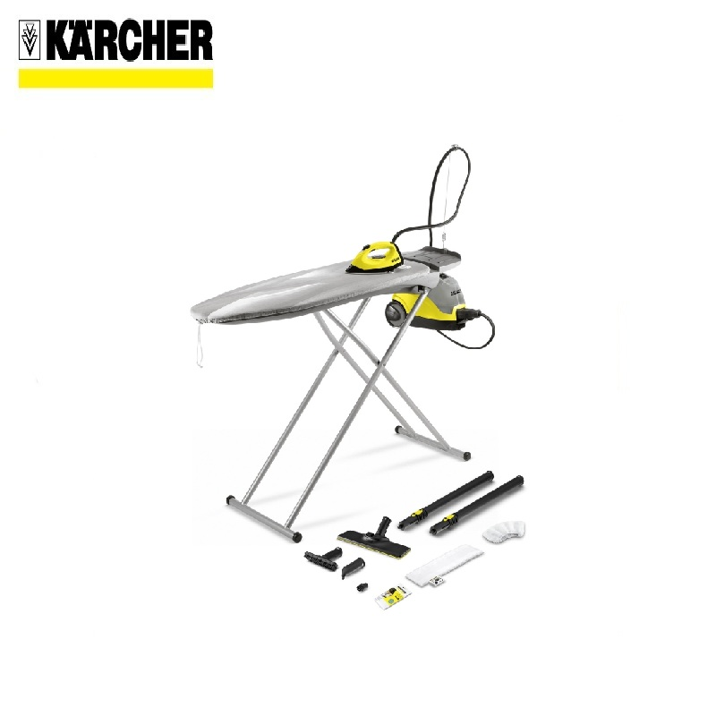 Ironing kit KARCHER  S 14 EasyFix Iron Steam cleaning Blowing function Active ironing board Ironed out without any folds стоимость