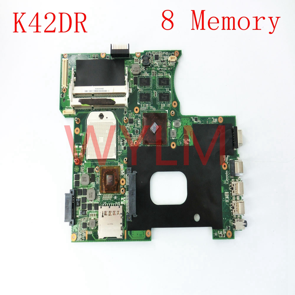 K42DR mainboard REV2.3 For ASUS A42D K42D K42DY K42DR K42DE Laptop motherboard Tested Working free shipping free shipping 1015bx mainboard rev2 1g for asus eee pc 1015bx laptop motherboard 100% tested working fully tested