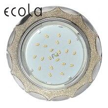 Ecola GX53 H4 DL3902 Glass Светильник встраиваемый круглый звезда под стеклом для ламп GX53 Круг без рефлектора 38x133