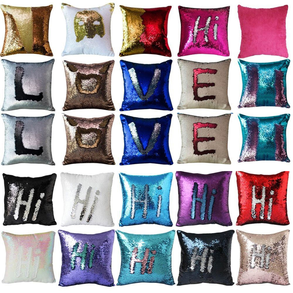 Magic Colorful Shiny Pillow Case Pattern Print Glitter Touch