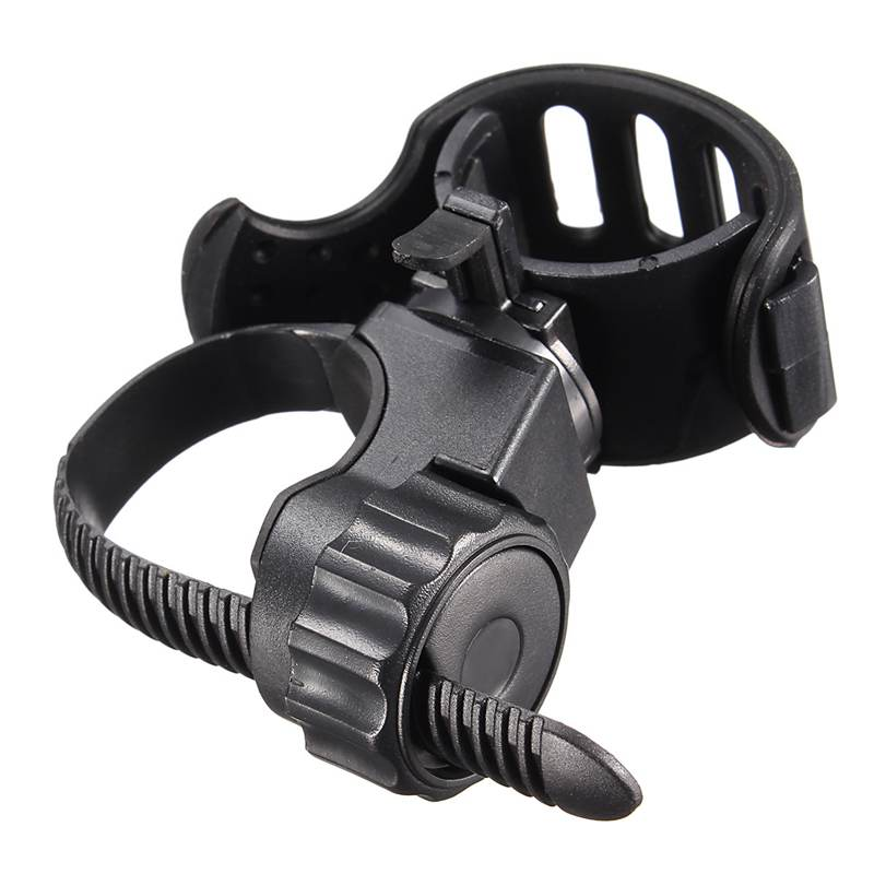 Bike Adjustable Light Lamp Holder Clip 360 Degree Bicycle Flashlight Torch Mount Holder  ...