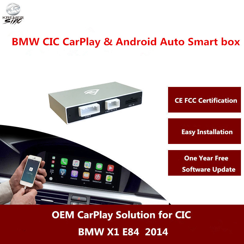 Aftermarket Carplay for BMW X1 E84 2008 2012 OEM CarPlay Box Android Auto with Rear View