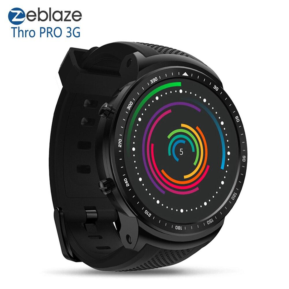 "Zeblaze Thor PRO 3G GPS WiFi Smartwatch 1.53"" Android 5.1 MTK6580 Quad Core 1GB 16GB 2.0MP Camera Heart Rate Monitor Smart Watch"