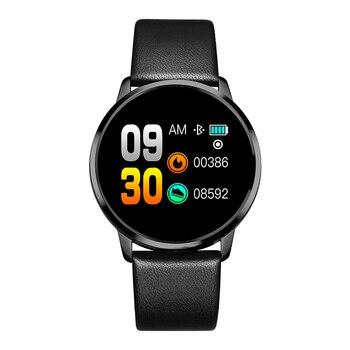 RUNDOING Q8 Smart Watch OLED Color Screen Smartwatch women Fashion Fitness Tracker Heart Rate monitor 8