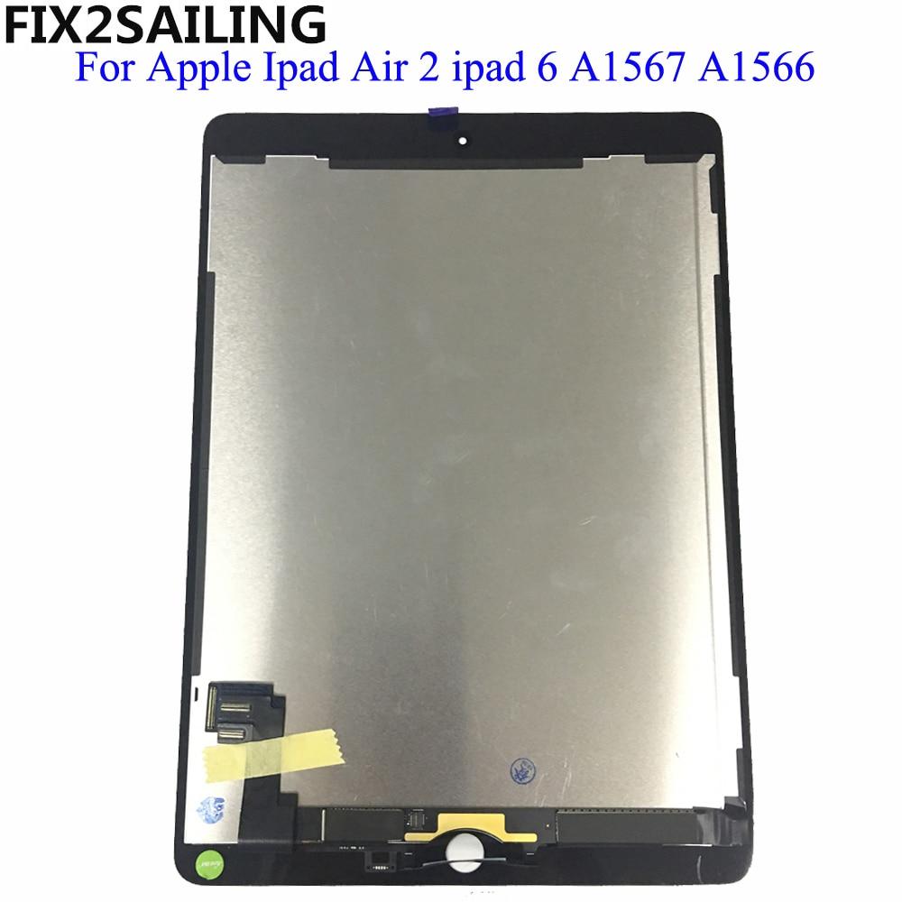 Pour Apple iPad 6 Air 2 A1567 A1566 9.7 ''100% AAA + Grade Écran LCD Écran Tactile Digitizer Assemblée remplacement 9.7