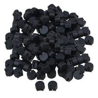 Yibuy 500 шт. резины кларнет Гобои большого пальца черный духовых аксессуары
