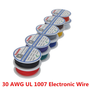10m UL 1007 30AWG 10 Colors El